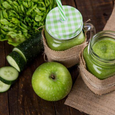 Smoothie de poma i cogombre